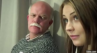 Old Youthfull Porn Teen Gangbang by Grandpas cunt fucking fingering gagging