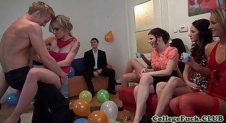 European college woman jizzed at bday party