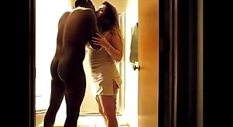 Wife in hot homemade interracial