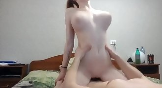 Teen with perfect tits fucked and cummed on 69SexLive.com