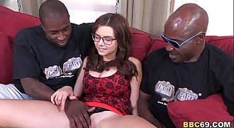 Marina Visconti Interracial DP with Black Mushy